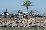 Tiberias, Israel the promenade on the shores of the Sea Of Galilee