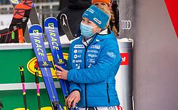 Third placed Meta Hrovat (SLO) during 2nd Run of Ladies' Giant Slalom at 57th Golden Fox event at Audi FIS Ski World Cup 2020/21, on January 17, 2021 in Podkoren, Kranjska Gora, Slovenia. Photo by Vid Ponikvar / Sportida