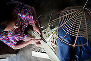 Framing of the traditional conical hat, Vietnam, Southeast Asia