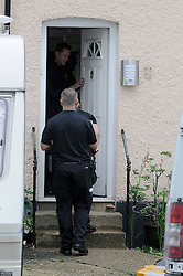 © Licensed to London News Pictures. 12/09/2013. Police Raid a property in Stone, Dartford in connection with Claire Tiltman MURDER 20 YEARS AGO. Miss Tiltman was stabbed to death in an alleyway off the A226 London Road in Greenhithe, four days after her 16th birthday in 1993. Photo credit :Grant Falvey/LNP