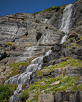 Waterfall. Glacier National Park. Image taken with a Nikon D200 camera and 18-70 mm kit lens.