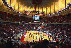 03 January 2009: Contrary to recent years, Redbird Arena is a sellout for the 2nd conference game of the season. The stands are already full by the time team introductions are made. The Illinois State University Redbirds extended their record to 14-0 with a 86-64 win over the Creighton Bluejays on Doug Collins Court inside Redbird Arena on the campus of Illinois State University in Normal Illinois