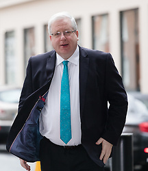 © Licensed to London News Pictures. 26/02/2017. LONDON, UK.  Conservative party chairman, Patrick McLoughlin arrives at BBC Broadcasting House to appear on The Andrew Marr show.  Photo credit: Vickie Flores/LNP