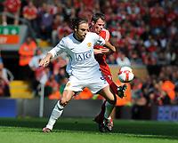 Dimitar Berbatov<br /> Manchester United 2008/09<br /> Jamie Carragher Liverpool<br /> Liverpool V Manchester United (2-1) 13/09/08<br /> The Barclays Premier League<br /> Photo Robin Parker Fotosports International