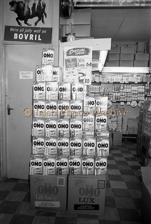 16/3/1966<br /> 3/16/1966<br /> 16 March 1966<br /> <br /> OMO Display at Barry's on Talbot St.