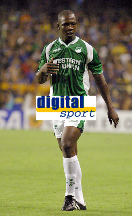 Fotball<br /> Libertadores Cup<br /> Boca Juniors v Deportivo Cali<br /> Buenos Aires<br /> 24. mars 2004<br /> Foto: Digitalsport<br /> Norway Only<br /> <br /> NELSON RIVAS, CALI