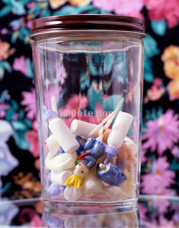 baby shower decorations in glass jar