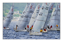 Yachting- The second start of the Bell Lawrie Scottish series 2002 at Inverkip racing to Tarbert Loch Fyne where racing continues over the weekend.<br /><br />Pepsi IRL633 at the front of the Sigma 33 pre start bustle.<br /><br />Pics Marc Turner / PFM