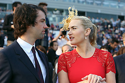 Actress Kate Winslet with boyfriend Ned Rocknroll (left),  Sha Tin racecourse, Hong Kong, China, December 30, 2012. Photo by Imago / i-Images...UK ONLY