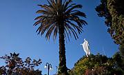 The Virgin Mary on the top of the Cerro San Cristóbal, (Tupahue, San Cristóbal Hill) in Santiago de Chile