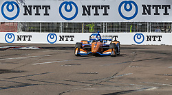 March 8, 2019 - St. Petersburg, Florida, U.S. - SCOTT DIXON (9) of New Zealand goes through the turns during practice for the Firestone Grand Prix of St. Petersburg at Temporary Waterfront Street Course in St. Petersburg, Florida. (Credit Image: © Walter G Arce Sr Asp Inc/ASP)