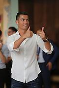 MADRID, SPAIN, 2016, SEPTEMBER 08 <br /> Cristiano Ronaldo at the presentation of his new fragrance in the Shooping Center La Moraleja in Madrid.<br /> ©Exclusivepix Media