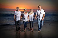 8 October 2015: Stan, Ildiko, Shane (17) and Cassidy (13) Lambert family in Laguna Beach, CA.