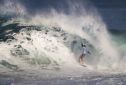 December 11, 2017 - Banzai Pipeline, HI, USA - BANZAI PIPELINE, HI - DECEMBER 11, 2017 - Josh Kerr of Australia keeps his balance in the first round of the Billabong Pipe Masters. (Credit Image: © Erich Schlegel via ZUMA Wire)