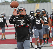 Lindenwood player Trey Parker, who formerly played for Belleville East HS, catches a ball during Lynx practice.