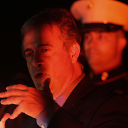 Mayor Bill Saffo speaks during the Greenfield Christmas Tree lighting at Greenfield Lake Park Thursday December 4, 2014 in Wilmington, N.C. (Jason A. Frizzelle)