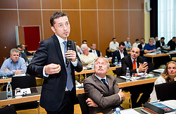 """Georg Pangl of EPFL during FIFPro """"Don't Fix it"""" Project Concluding Conference on June 3, 2014 in Grand Hotel Union, Ljubljana, Slovenia. Photo by Vid Ponikvar / Sportida"""