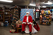 """""""Santa"""" at The Gateway convenience store in Winchester, Idaho on Sunday, Dec. 8, 2019."""