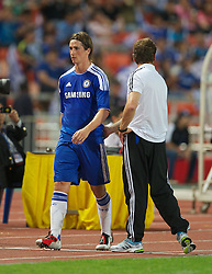 24.07.2011, Rajamangala National Stadium, Bangkok, THA, Chelsea FC Asia Tour, Thailand All Star XI vs Chelsea FC, im Bild // Chelsea's Fernando Torres looks dejected after being substituted by manager Andre Villas-Boas after another goalless display against a Thailand All Star XI at the Rajamangala National Stadium in Bangkok on the club's preseason Asia Tour, EXPA Pictures © 2011, PhotoCredit: EXPA/ Propaganda/ D. Rawcliffe *** ATTENTION *** UK OUT!