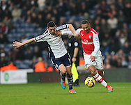West Brom's Graham Dorrans tussles with Arsenal's Kieran Gibbs<br /> <br /> Barclays Premier League- West Bromwich Albion vs Arsenal - The Hawthorns - England - 29th November 2014 - Picture David Klein/Sportimage