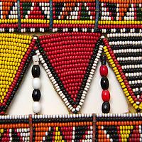 Africa, Kenya. Maasai tribal beadwork.