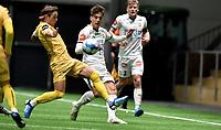 Fotball , 14. februar 2020 , Privatkamp , Bodø/Glimt - Strømsgodset 5-0<br /> <br /> Patrick Berg , Glimt<br /> Kreshnik Krasniqi , SIF