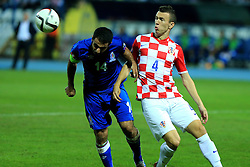 13.10.2014, Stadion Gradski vrt, Osijek, CRO, UEFA Euro Qualifikation, Kroatien vs Aserbaidschan, Gruppe H, im Bild Rashad Sadygov, Ivan Perisic // during the UEFA EURO 2016 Qualifier group H match between Croatia and Azerbaijan at the Stadion Gradski vrt in Osijek, Croatia on 2014/10/13. EXPA Pictures © 2014, PhotoCredit: EXPA/ Pixsell/ Davor Javorovic<br /> <br /> *****ATTENTION - for AUT, SLO, SUI, SWE, ITA, FRA only*****