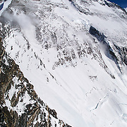 The massive and imposing North Face of Mount Everest, Tibet, as seen from near the North Col Camp (Camp IV), 23,000 feet.