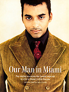Jon Secada for Esquire USA. Photographed in Paris Studios, Miami Florida. Flash Color Treatment.<br /> Photographer ©Amyn Nasser