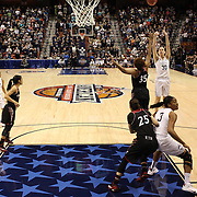 Breanna Stewart, UConn, shoots for three during the UConn Vs Cincinnati Quarterfinal Basketball game at the American Women's College Basketball Championships 2015 at Mohegan Sun Arena, Uncasville, Connecticut, USA. 7th March 2015. Photo Tim Clayton