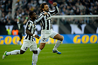 Andrea Pirlo esulta dopo il gol , goal celebration Juventus<br /> Calcio Juventus vs Atalanta<br /> Serie A - Torino 16/12/2012 Juventus Stadium <br /> Football Calcio 2012/2013<br /> Foto Federico Tardito Insidefoto