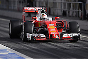 Barcelona, Spain - <br /> <br /> The German driver, Sebastian Vettel, from Ferrari team, in action during the 2nd day of Formula One tests days in Barcelona, 23rd of February, 2016.<br /> ©Exclusivepix Media