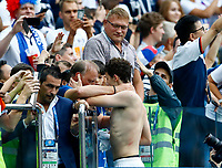 Benjamin Pavard (France) with the family in the stand after the match<br /> Nizhny Novgorod 06-07-2018 Football FIFA World Cup Russia  2018 Uruguay - France / Uruguay - Francia <br /> Foto Matteo Ciambelli/Insidefoto