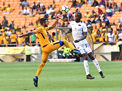Chippa United FC player Linda Mntambo battle for the ball with Kaizer Chiefs player Daniel Cardoso during the ABSA premiership at FNB stadium <br />Picture: Itumeleng English/African News Agency (ANA)<br />07.04.2018