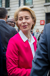 © Licensed to London News Pictures. 08/01/2020. London, UK. EU Commission President, Ursula von der Leyen leaves the London School of Economics (LSE) after delivering a speech about building a future for the EU-UK partnership after Brexit. Photo credit: Vickie Flores/LNP