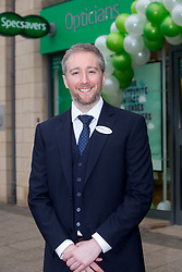 Director Adam Gordon, at the official opening of the new Specsavers store at 70 St John Road, Corstorphine, Edinburgh.