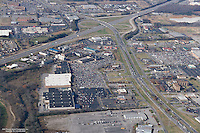 Aerial photo of retail on Old Fort Parkway in Murfreesboro Tennessee on Black Friday.