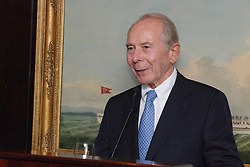 "Maurice R. ""Hank"" Greenberg speaks at a reception honoring the endowment of the David Boies Professorship of Law at Yale Law School. 21 Club, NYC on 18 Sept 2007."