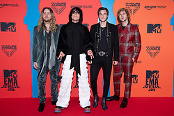 'The Struts' Adam Slack, Luke Spiller, Jed Elliott and Gethin Davies attend the MTV EMAs 2019 at FIBES Conference and Exhibition Centre on November 03, 2019 in Seville, Spain. Photo by ABACAPRESS.COM