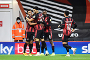 Goal 1-0 - Junior Stanislas (19) of AFC Bournemouth celebrates scoring the opening goal during the EFL Sky Bet Championship match between Bournemouth and Nottingham Forest at the Vitality Stadium, Bournemouth, England on 24 November 2020.