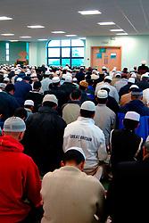 Crowded mosque during Ramadan; Bradford Yorkshire; UK