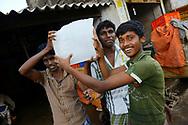 Fish and ice sellers in Pulicat town, Pulicat Lake, Tamil Nadu, India