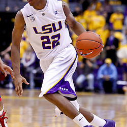 November 30, 2010; Baton Rouge, LA, USA;  LSU Tigers guard Ralston Turner (22) during a game against the Houston Cougars at the Pete Maravich Assembly Center. LSU defeated Houston 73-57. Mandatory Credit: Derick E. Hingle