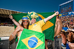 Brazilian fans at A1 Beach Volleyball Grand Slam tournament of Swatch FIVB World Tour 2010, bronze medal, on August 1, 2010 in Klagenfurt, Austria. (Photo by Matic Klansek Velej / Sportida)