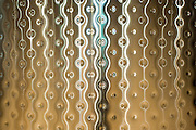 Detail of stainless steel fermentation tank in a wine cave at famous Chateau Montelena winery in Calistoga, Napa Valley, California