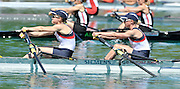 Banyoles, SPAIN,   GBR LW2X, Bow [Right] Andrea DENNIS and Sophie HOSKING moves away from the start, during their heat of the  Women's Lightweigh doubl Sculls at the  FISA World Cup Rd 1. Lake Banyoles Friday 29/05/2009   [Mandatory Credit. Peter Spurrier/Intersport Images]