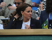 Tennis - 2021 All England Championships - Week One - Day Five (Friday) - Wimbledon<br /> Ons Jabeur v Garbine Muguruza<br /> <br /> HRH The Duchess of Cambridge (Kate) in the Royal Box on Centre Court <br /> <br /> CreditCOLORSPORT/Andrew Cowie