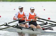 Poznan, POLAND.   2004 FISA World Cup, Malta Lake Course.  <br /> <br /> Fri. morning from the start pontoon<br /> <br /> NED LW2X. <br /> Marit VAN EUPEN, and  Kirsten<br /> VAN DER KOLK.<br /> <br /> 09.05.2004<br /> <br /> [Mandatory Credit:Peter SPURRIER/Intersport Images]