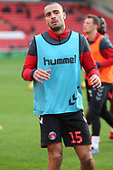Charlton Athletic midfielder Darren Pratley (15) in warm up during the EFL Sky Bet League 1 match between Barnsley and Charlton Athletic at Oakwell, Barnsley, England on 29 December 2018.