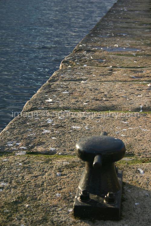 Mooring post at edge of Quay, Dublin, Ireland
